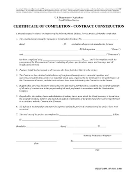 Request For Letter Of Completion Exle Completion Certificate Sle Construction Fill Printable Fillable Blank Pdffiller