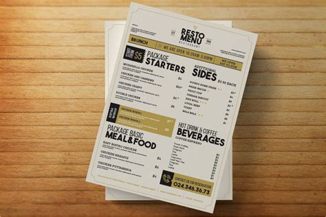 menu design mockup 40 menu mockups templates free psd download