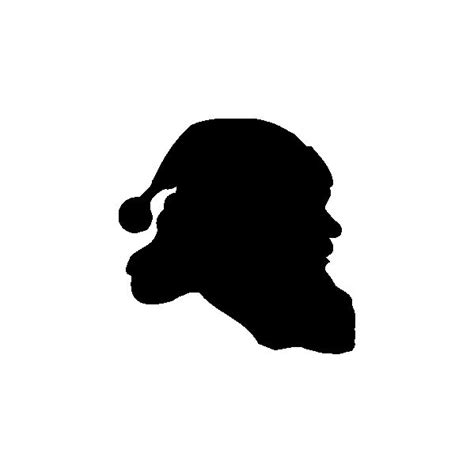 silhouette christmas santa no 3 on luulla