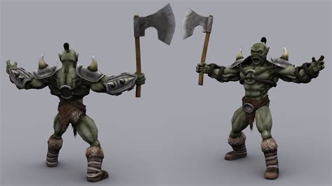 free download cgtrader models orc rigged skinned and animated unity forum