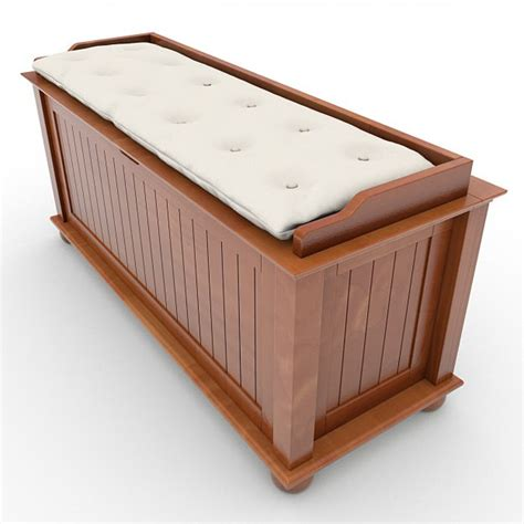 Storage Bench With Cushion Storage Bench With Cushion 02 3d Model Max Obj 3ds Lwo Lw Lws Cgtrader
