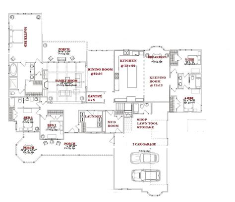 house plans great room floor with open living and kitchen