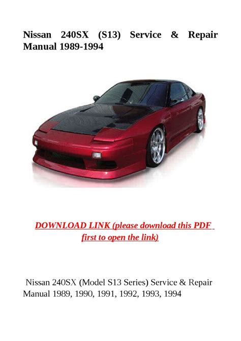 service repair manual free download 1997 nissan 240sx electronic throttle control nissan 240sx s13 service repair manual 1989 1994 by cindy tinh issuu