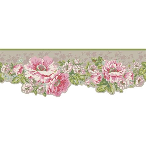 Wall Border Promo 7 york wallcoverings inspired by color garden