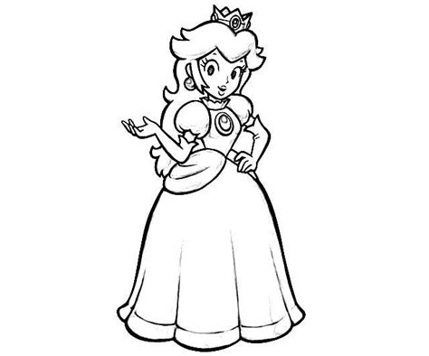 printable princess peach coloring pages coloring me