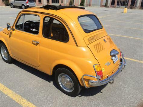 yellow fiat cinquecento 1970 yellow fiat 500l cinquecento abarth microcar