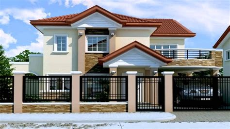 house design philippines youtube two storey house design with floor plan in the philippines