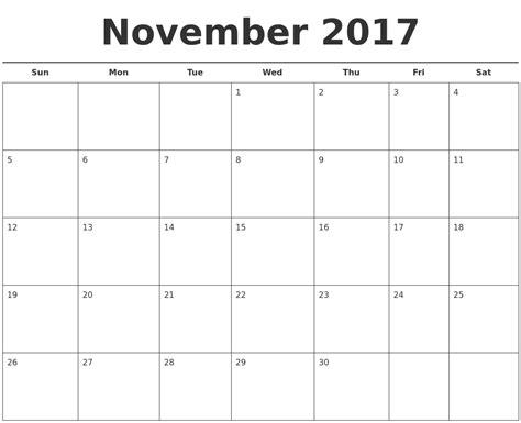 Free November Calendar Template november calendars
