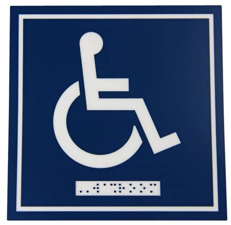 Toilet Sign No Sign Signed Metal Etching Name Plate sign washroom door wheelchair only with braille shop buddsteel