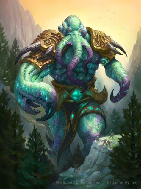 the art of hearthstone hearthstone soggoth the slitherer by namesjames on