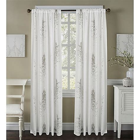 63 white curtains buy janette 63 inch sheer window curtain panel in white