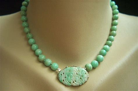 antique jade bead necklace exquisite sterling necklace of antique jadeite jade