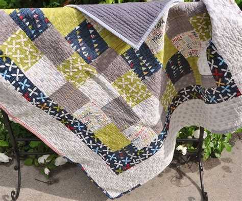 Boys Patchwork Quilts - richard and quilts modern baby boy patchwork quilt