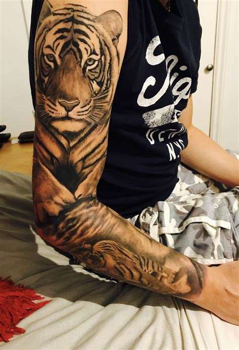 tattoo on arm cost 146 best tiger tattoos images on pinterest animal