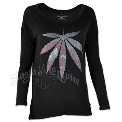 Sweater 420 Jidnie Clothing leaf black lightweight sweater women s