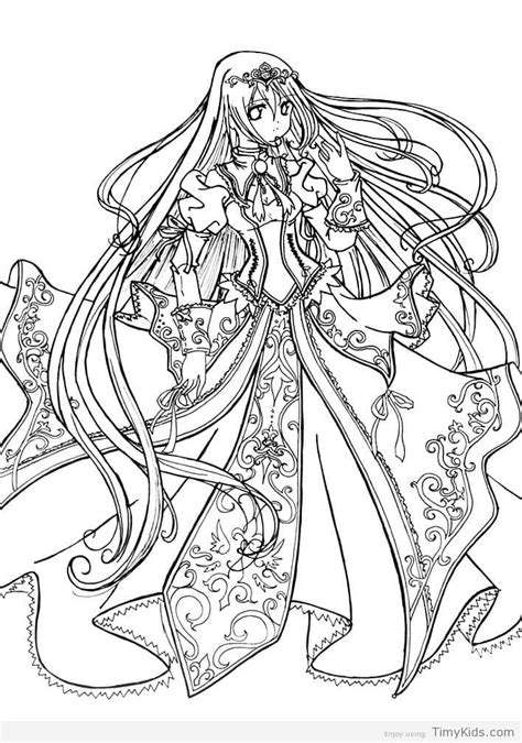 coloring page anime princess anime princess coloring pages timykids