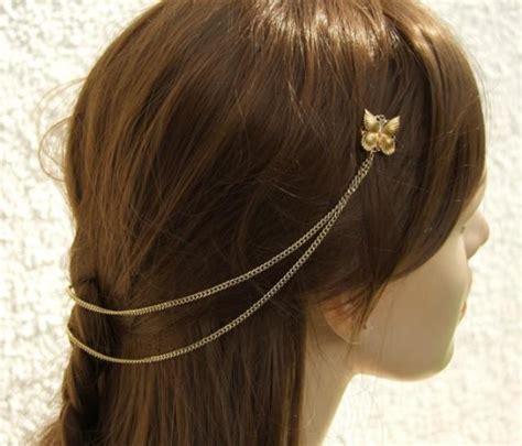 Butterfly Hair Comb butterfly hair comb butterfly bridal hairpiece gold hair