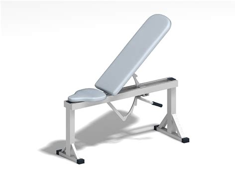 modells weight bench adjustable weight training bench 3d model 3ds max files