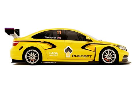 Wtcc Lada Lada Vesta Dressed As Wtcc Racer At The Moscow Show W