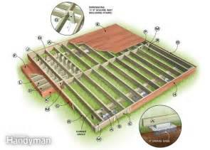 Temporary Patio Flooring Backyard Decks Build An Island Deck The Family Handyman