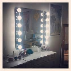 Vanity Makeup Mirror With Light Bulbs My Diy Hollywood Vanity For Only 160 At Home Depot 1