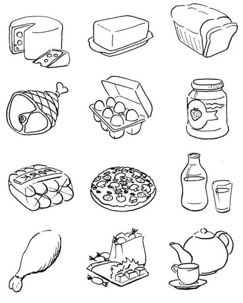 thank you god for food coloring page healthy food coloring pages free printable healthy food