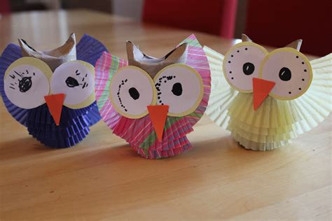 Paper Owls - paper owl craft paper crafts