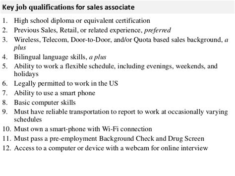 sales associate description