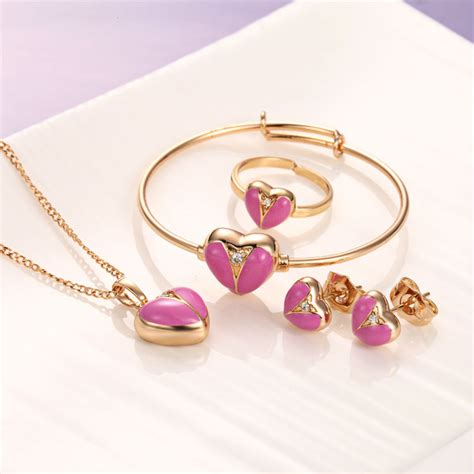 aliexpress buy baby jewelry sets 18k gold plated