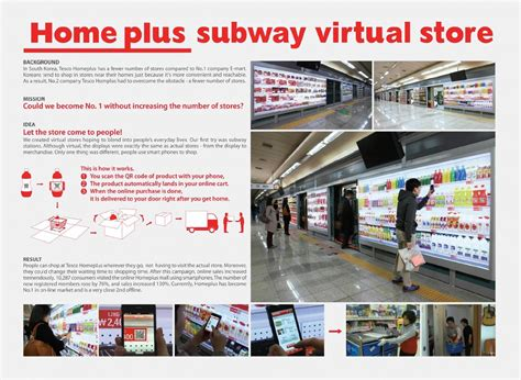 homeplus outdoor advert by cheil subway store