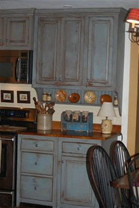 Blue Distressed Kitchen Cabinets by County Ideas On Country