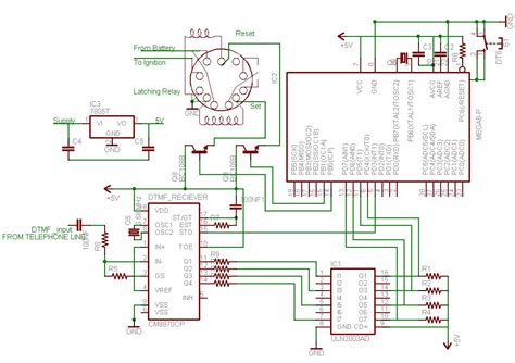 about circuit phone to microcontroller interfacing with dtmf uchobby