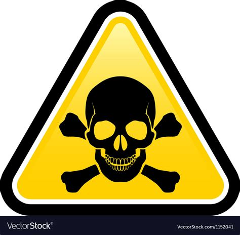 The Danger skull danger signs royalty free vector image vectorstock