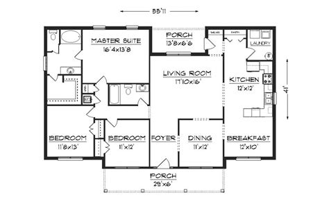 Floor Plans Free by Modern House Plans Bungalow