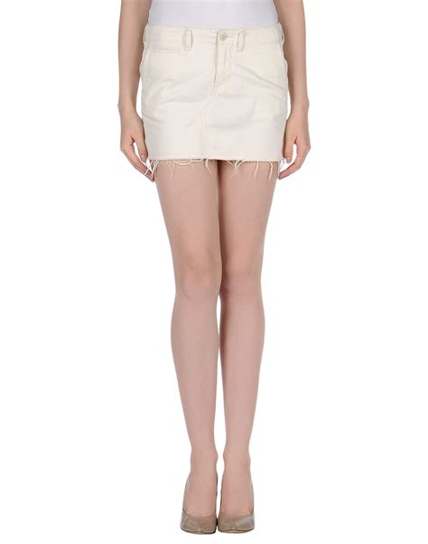 denim supply ralph mini skirt in white lyst