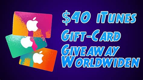 40 Itunes Gift Card - 40 itunes gift card giveaway worldwide open 10 youtube