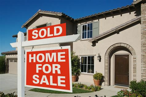 house for sale sites sold home for sale sign in front of new house stock image image of facade dwelling 4520357