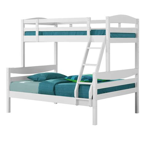 White Wood Bunk Beds White Solid Wood Bunk Bed Walker Edison Bwtodwh