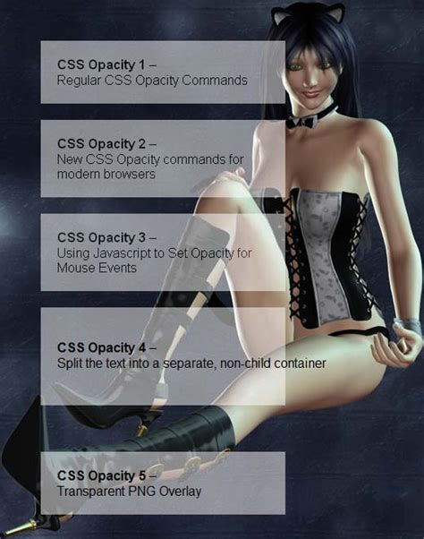 css background transparency css opacity 5 faces of transparency