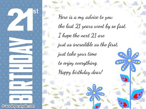 Birthday Card Wording 21st Birthday Wishes Messages And 21st Birthday Card