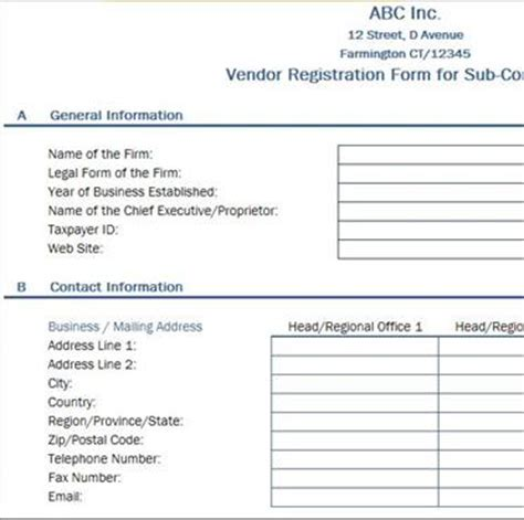 vendor sign in sheet template free data collection templates on excel vendor