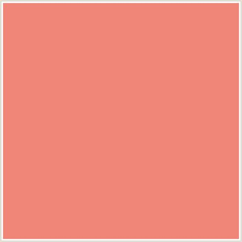 f08678 hex color rgb 240 134 120 apricot salmon