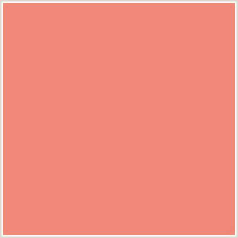 salmon the color f08678 hex color rgb 240 134 120 apricot salmon