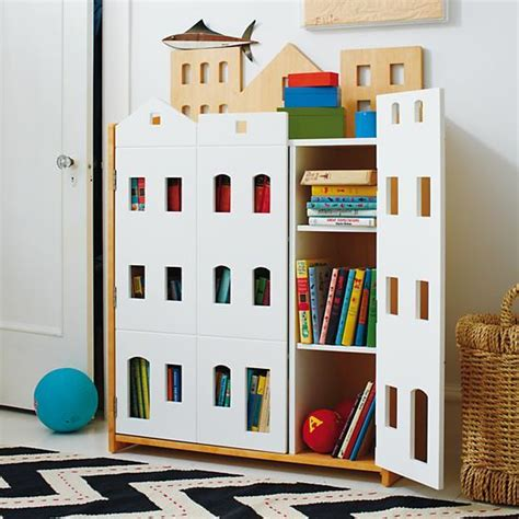 brownstone bookcase from the land of nod story time
