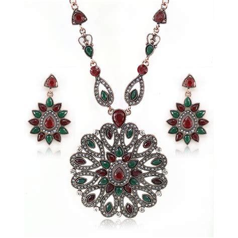 Pendant Statement Necklace Earrings Accessories 2016 new necklace earrings suit fanshion bohemia with multi color statement necklaces pendants