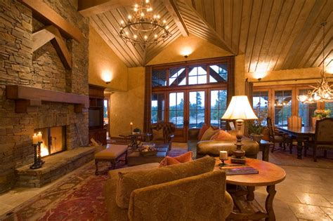 Floor And Decor Colorado Crosswater Ski Lodge Traditional Living Room