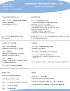 Cv Par Competences Exemples Gratuit by Creation De Cv Cv Par Competences Exemples Gratuit