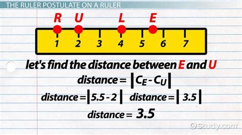 Correspondence Mba Meaning by Ruler Postulate Definition Exles Lesson