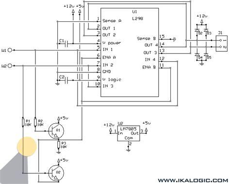 l298n circuit diagram 24v h bridge dc motor why voltage drop to 3v if motor
