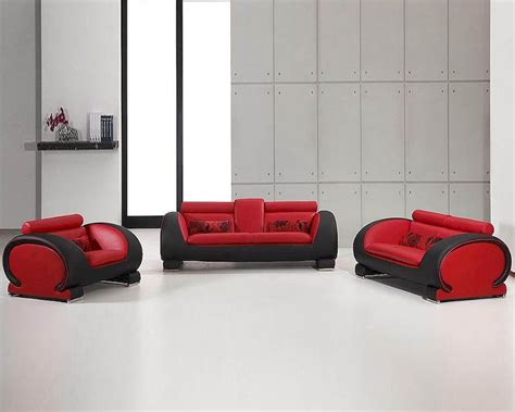 red and black leather couches red and black bonded leather sofa set 44l2811rb